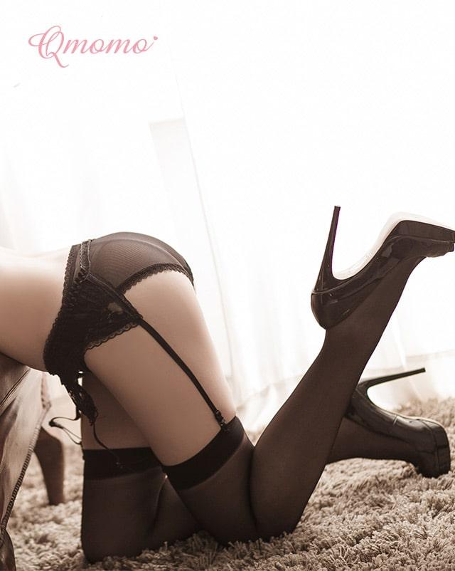 Qmomo女神降臨腿環素面大腿襪