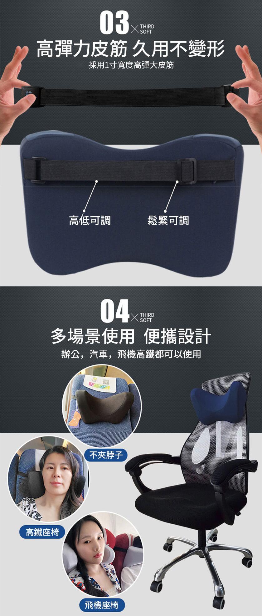 3D立體記憶棉汽車護頸頭枕