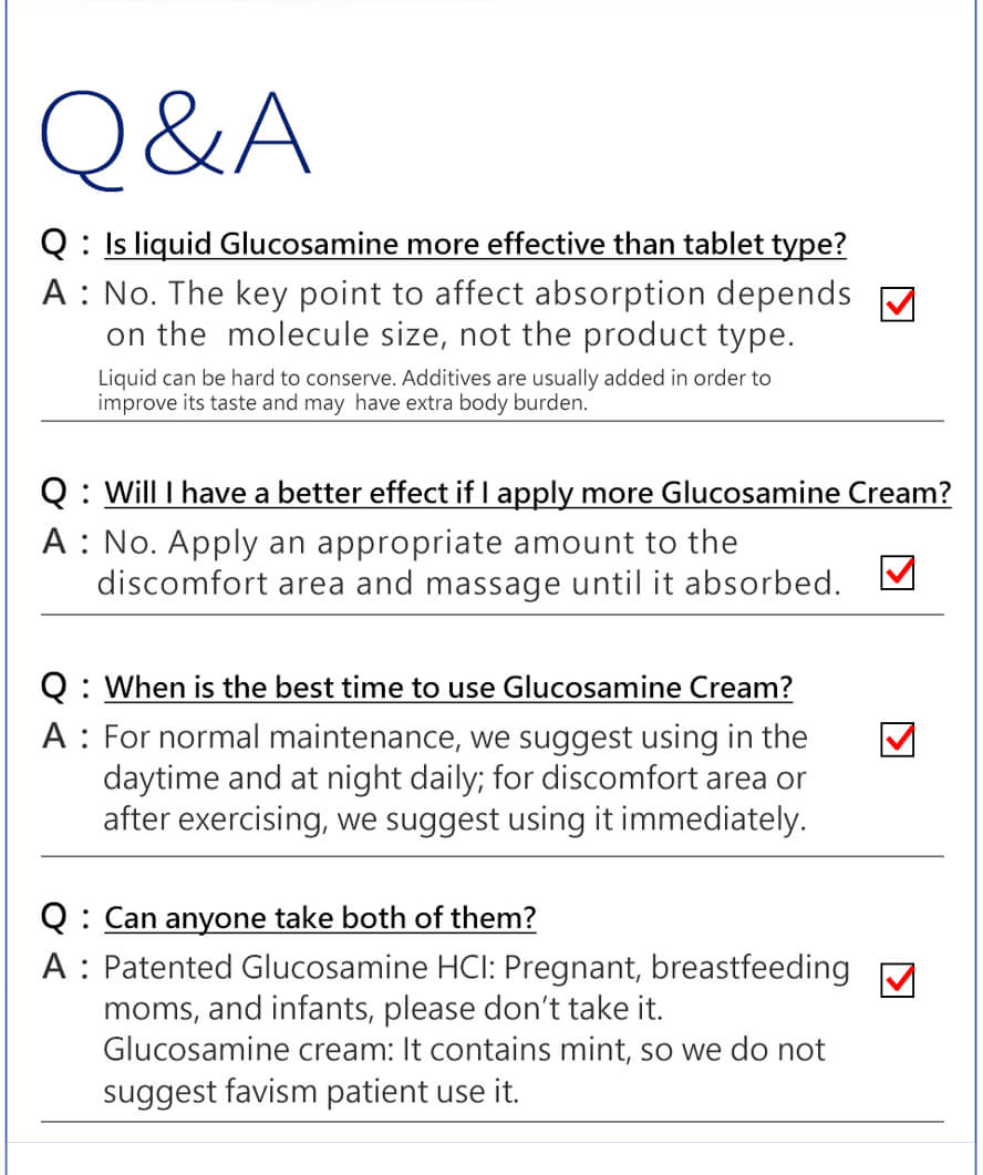BHK's Patented Glucosamine HCl Tablets & Cream Set
