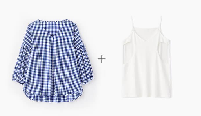 Mamaway 格紋孕哺平織衫2件組