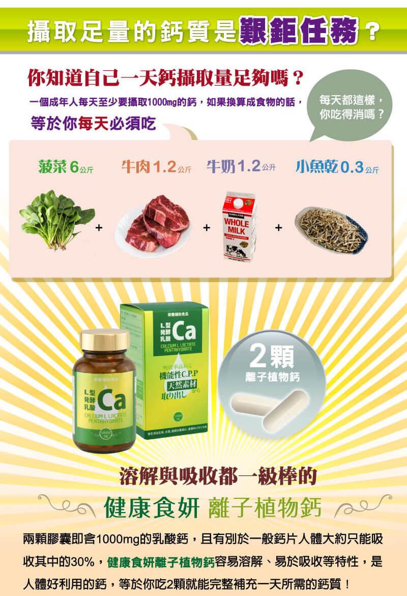 健康食妍離子植物鈣