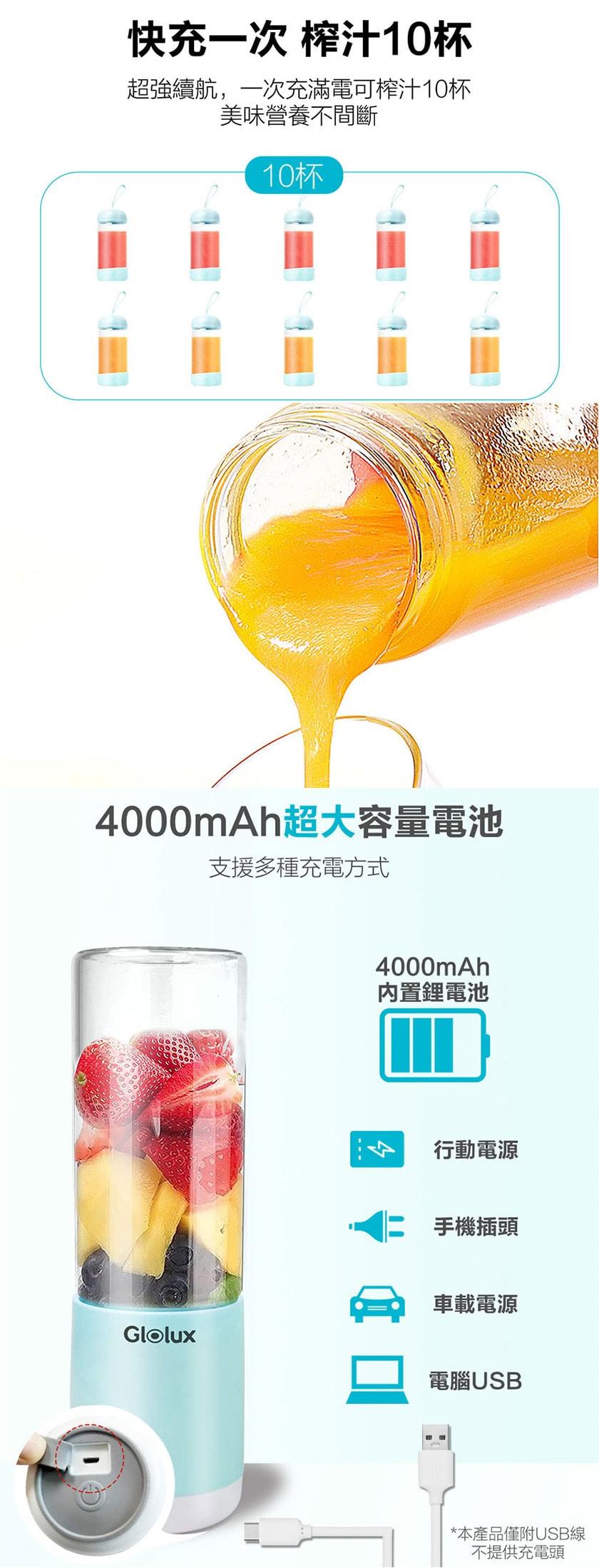 GLOLUX 果汁機雙杯組